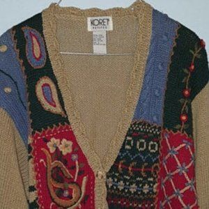 Koret Cardigan Sweater Women Petite Large LP NEW